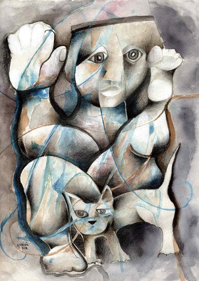 Photo de l'oeuvre 958 - Danseur et chat