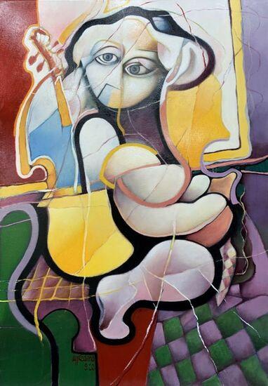 Photo de l'oeuvre 999-1056 - Violoniste à sa fenêtre